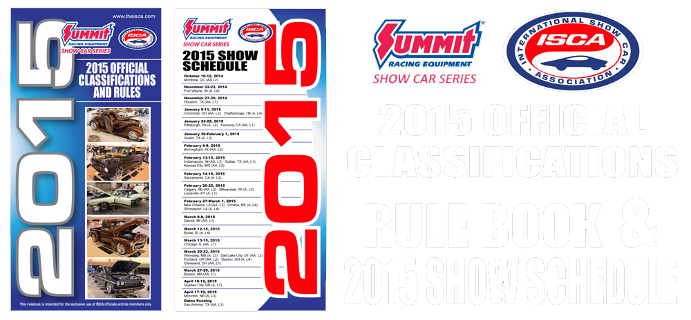 2015 ISCA Summit Racing Equipment Show Car Series Rule Book