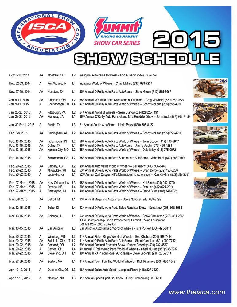 Summit Racing EquipmentISCA Season Kicks Off With Two New - Car show schedule