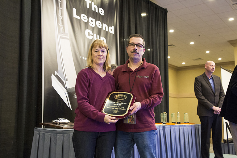 Maureen and Jerry Chandler 2016 ISCA Rookie of the Year