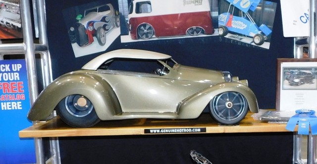 A replica of Billy Thomas' 2016 Ridler Winning 1939 Oldsmobile - Kansas City Pedal Car Challenge